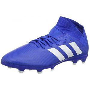 size 40 17541 80a0a Adidas Nemeziz 18.3 FG, Chaussures de Football Mixte Enfant, Bleu  Ftwbla Fooblu 001