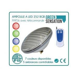 Desineo Ampoule à LED avec télécommande par56 252leds pour piscine