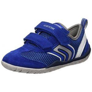 Geox J Trifon B, Sneakers Basses Garçon, Bleu (Royal/Whitec0432), 34 EU