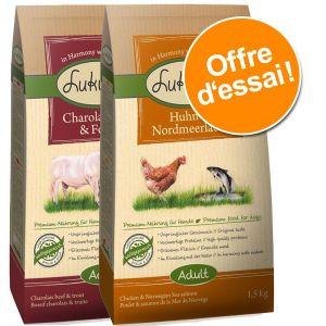 Lukullus Croquettes pour chien canard de Barbarie & agneau - 1,5 kg