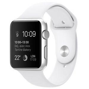 Apple Watch Sport 42 mm - Montre connectée boîtier alu bracelet sport