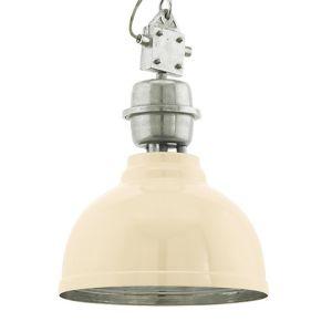 Eglo Lampe suspension GRANTHAM Chrome, Beige, 1 lumière - Moderne - Intérieur - GRANTHAM