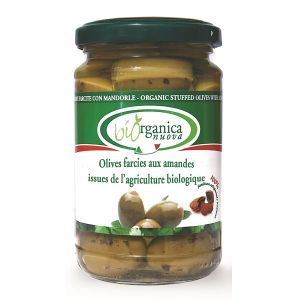 Biorganica nuova Olives farcies aux amandes - 190g