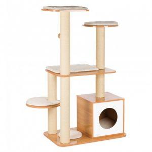 Trixie Arbre a chat en bois Laia - Brun et blanc - Pour chat - Avec 5293706fe80a