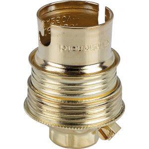 L'ébénoïd Douille B22 acier laitonné sans passage de fil - Raccord diamètre 10 mm - Double bague