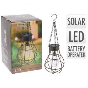 Progarden Lampe à ampoule solaire Métal avec 10 LED