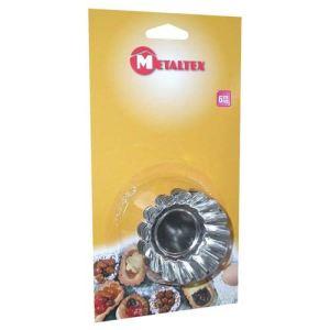 Metaltex 6 moules à tartelettes en fer (7 cm)