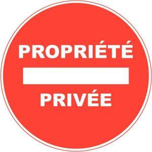 1 disque propriété privée Ø 28 cm en PVC autocollant