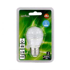 Nityam Ampoule LED Sphérique E27 - 5W équivalent 40W - 470lm 4000K 180°