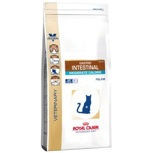 Royal Canin Veterinary Diet Chat Gastro Intestinal Moderate Calorie GIM 35 - Sac 400 g