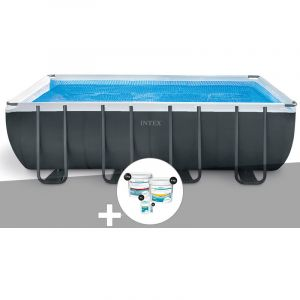 Intex Kit piscine tubulaire Ultra XTR Frame rectangulaire 5,49 x 2,74 x 1,32 m + Kit de traitement au chlore