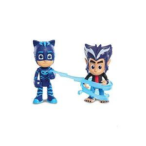Giochi Preziosi Pyjamasques - 2 Figurines 7,5 cm - Bibou & Rip