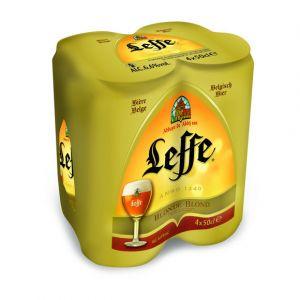 Leffe Bière blonde belge - Les 4 canettes de 50cl