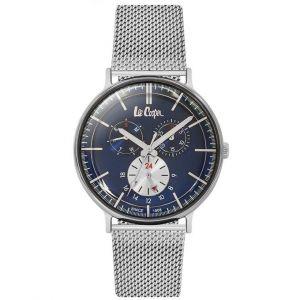 Lee Cooper Montre LC06380-390 - Bracelet Acier Milanais Cadran Bleu Homme
