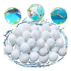KATELUO 700g Boules de Filtre de Piscine, Balles Filtrantes,Média Filtre à Fibres pour Piscine Filtres à Sable Filtrage de l'eau