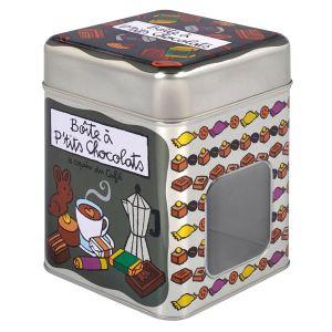 Derrière la porte Boîte hermétique fenêtré à petits chocolats Le copain du café en métal