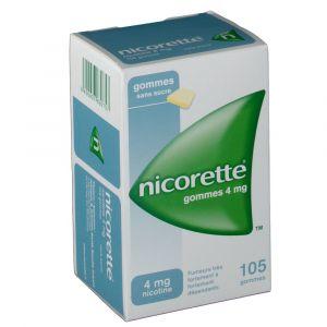 Johnson & Johnson Nicorette s/s 4 mg - 105 gommes à mâcher