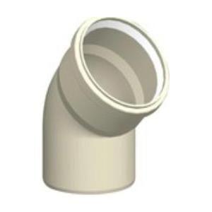 Ubbink 222954 - Coude 45 Chemilux Condensation B22 - B23 PPTL diamètre 80-80 Fioul - Gaz