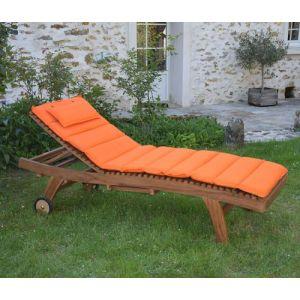 Teck'Attitude Matelas Orange pour bain de soleil