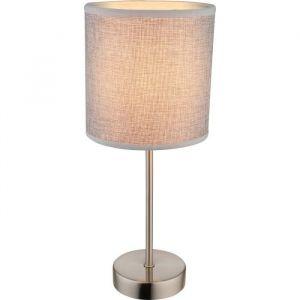 Globo Lighting Lampe à poser mat - Plastique - Tissu marron - Interrupteur - Ø 15 x H 35 cm