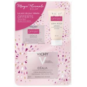 Vichy Idéalia - Coffret crème de lumière lissante, lait-sérum et baume-en-gel réparant nuit