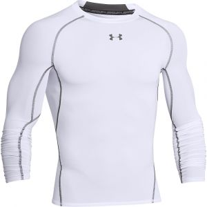 Under Armour Maillot de compression manches longues heatgear armour blanc s