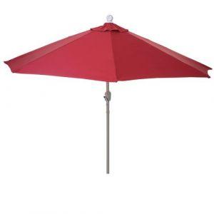 Mendler Demi Parasol en Al ini Parla, UV 50+ ~ 300cm Bordeaux sans Pied