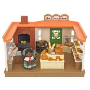 Epoch Sylvanian Families 5237 - Boulangerie traditionnelle et figurine