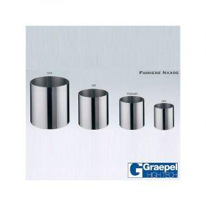 Pot GRAEPEL Fiorere Naxos, Inox Brossé Metal Taille 1 Intérieur Sans roulettes GRAEPEL HIGH TECH