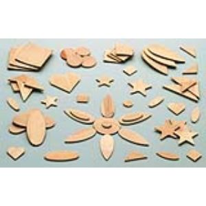 Mystbrand 100 formes fantaisie et géométriques assorties en bois