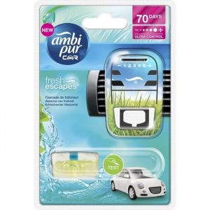 Image de Ambi Pur Désodorisant voiture rechargeable Car Cascade de fraîcheur