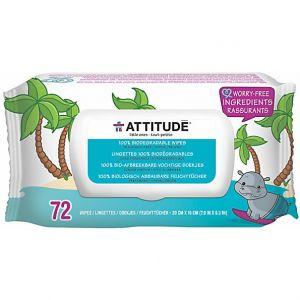 Attitude Lingettes bébé biodégradables 100 % Little ones - 72 unités