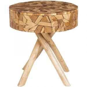 Beliani Table appoint en bois clair THORSBY