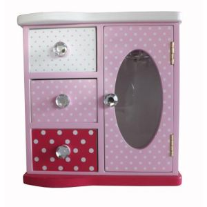 Petite commode Minnie en bois avec miroir