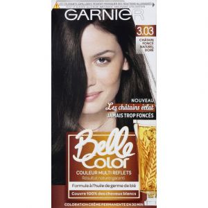 Garnier Belle color coloration brunette 3.03 chatain fonce naturel dore