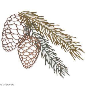 Sizzix Set de matrices Thinlits - Branche de pin - 4 pcs