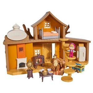 Simba Toys Masha Michka - Maison De Masha 2 Etages + 1 Poupée 12 Cm Et Accessoires