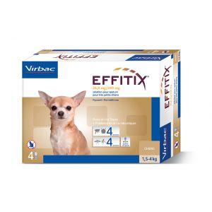 Virbac Effitix - Traitement anti-puce pour petits chiens