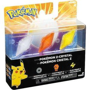 Tomy Pack 3 cristaux Z Pokémon (Spectre/Insecte/Ténèbres)