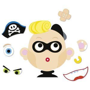Goki Jeu magnétique le garçon et ses drôles de têtes Pax