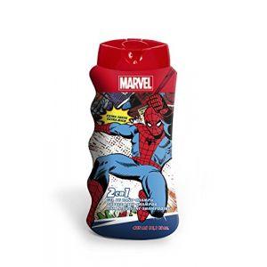 Marvel Comics Spiderman 2 en 1 Bain moussant et shampooing