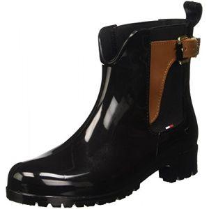Tommy Hilfiger O1285Xley 2Z2, Bottines Hautes Femme, Noir (Black (990), 40 EU