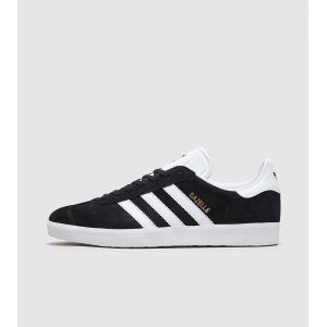 Adidas Gazelle, Baskets Basses Mixte Adulte, Noir (Core Black/White/Gold Metallic), 44 2/3 EU (10 UK)