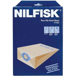 Nilfisk 82095000 - 5 sacs d'origine en papier pour aspirateurs GA70, GM80 et 90, GS 80 et 90