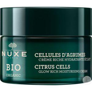 Nuxe Bio Crème Riche Hydratante Eclat peau sèche - Cellules d'agrumes - 50 ml