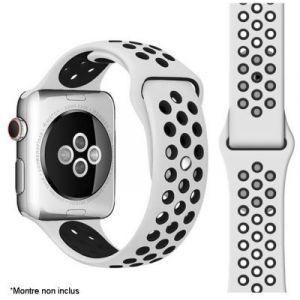 Ibroz Bracelet Apple Watch Sport 44mm noir/blanc