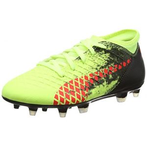 Puma Future 18.4 FG/AG Jr, Chaussures de Football Mixte Enfant, Jaune (Fizzy Yellow-Red Blast Black), 36 EU