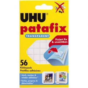 UHU Pastilles adhésives Patafix détachable Transparent Etui de 56