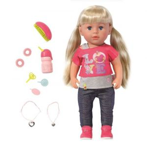 Zapf Creation BABY born Soft Touch Sister blond 43 cm rose/rose vif