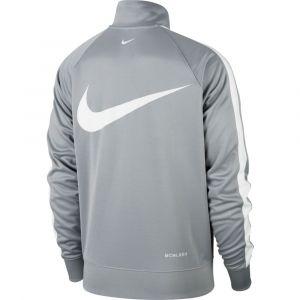 Nike Veste de survêtement en maille polyester avec logo virgule - Gris